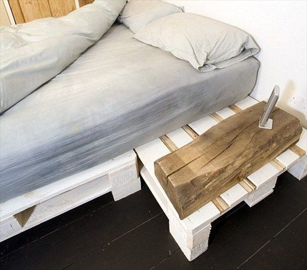 How To Make A Platform Bed Frame From Pallets, Bed... - Amazing Wood ...