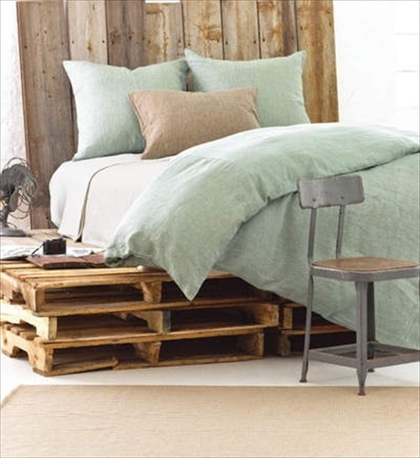 how to make a platform bed out of wood pallets