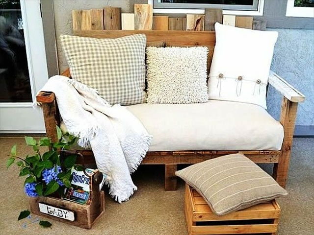 Wooden Pallet Recycling Ideas: Home Furniture | Pallet Furniture Plans
