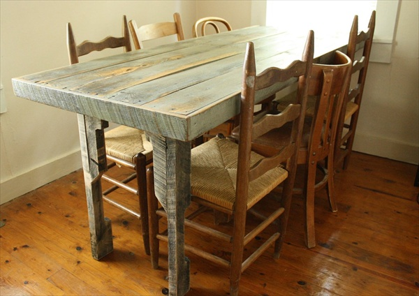 ... Pallet Dining Table: 16 Perfect Ideas | Pallet Furniture Plans