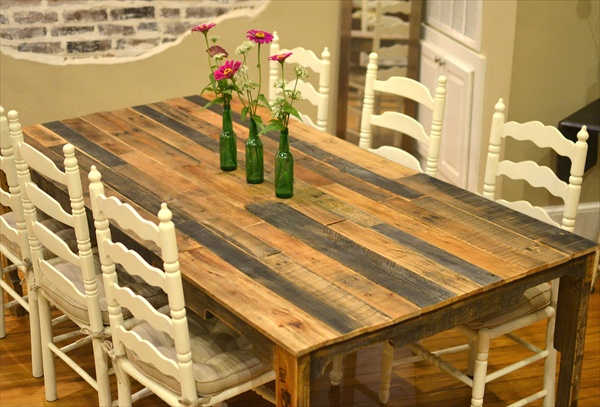 The recycled pallet dining table 16 perfect ideas - Fabriquer table palette ...