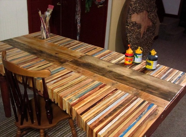 The Recycled Pallet Dining Table 16 Perfect Ideas  : pallet dining table from palletfurnitureplans.com size 600 x 444 jpeg 110kB