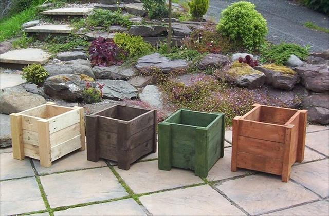 Pallet Garden planter , vertical flower planter and planet box.