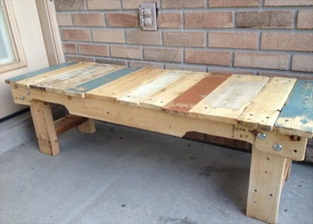 pallet seating bench