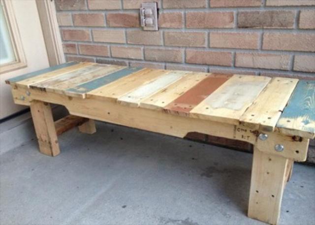 pallet seating bench