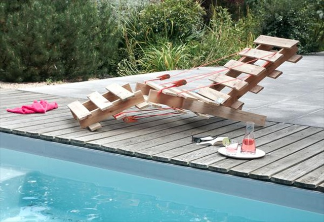 outdoor pallet longer chair