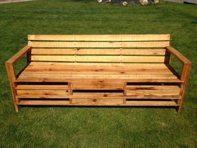 10 Pallet Bench for Your Backyard | Pallet Furniture Plans