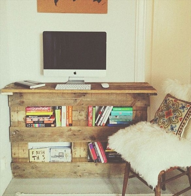 16 Ideas for a Useful Pallet Desk from Recycled Pallets | Pallet