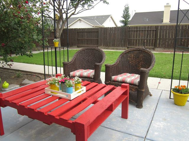 recycled pallet outdoor table