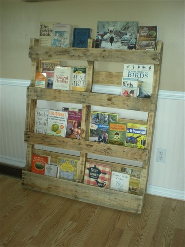 DIY Bookshelf Ideas with Pallet Wood | Pallet Furniture Plans