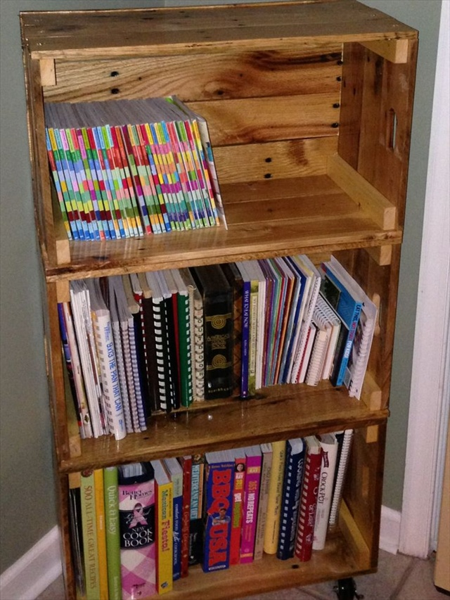 DIY Bookshelf Ideas with Pallet Wood | Wooden Pallets Ideas for Bed ...