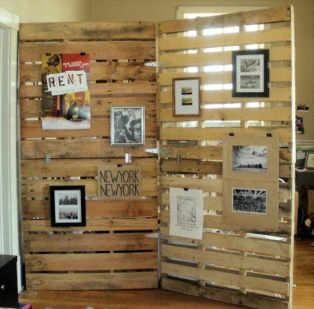 pallet wood divider