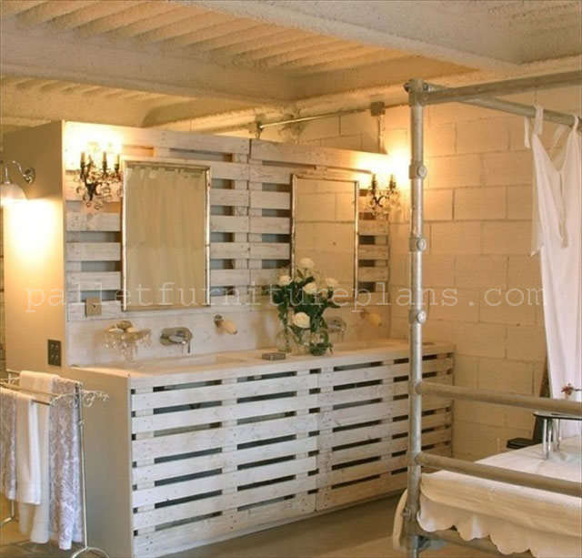 Enjoy with 25 pallet wood projects pallet furniture plans - Idee deco avec palette de bois ...