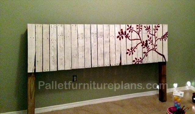 4 headboards made from wooden pallets pallet furniture plans for How to make a headboard out of pallets