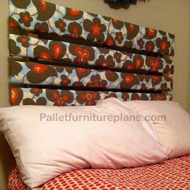 4 Headboards Made from Wooden Pallets