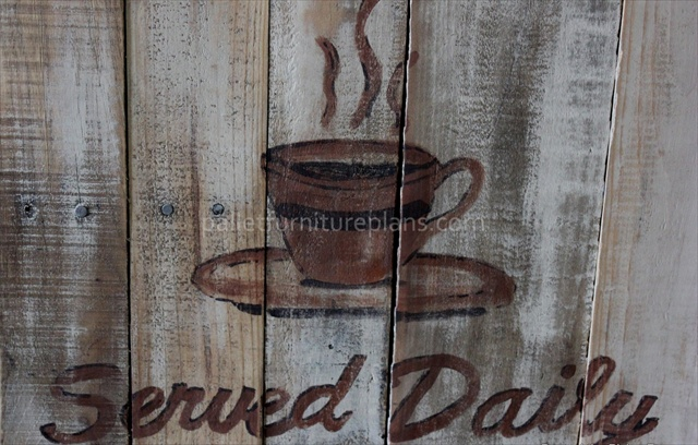 Coffee Signs Made of Pallets