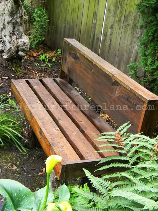 15 Diy Outdoor Pallet Bench Pallet Furniture Plans