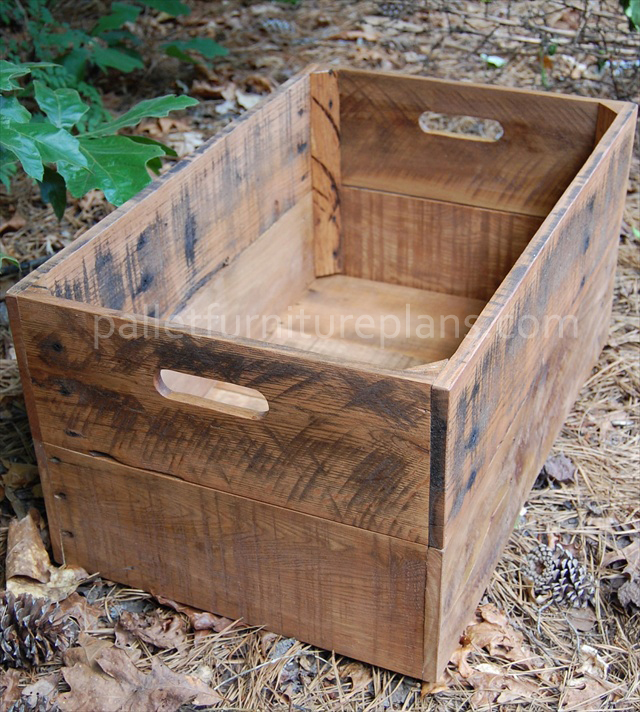 diy pallet bin pallet furniture plans