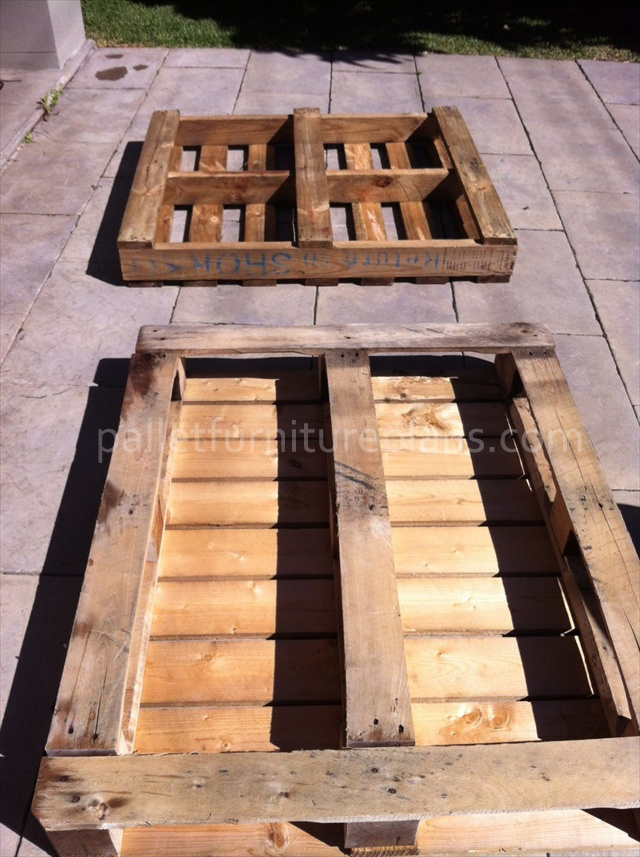 instructions for pallet coffee table pallet furniture plans