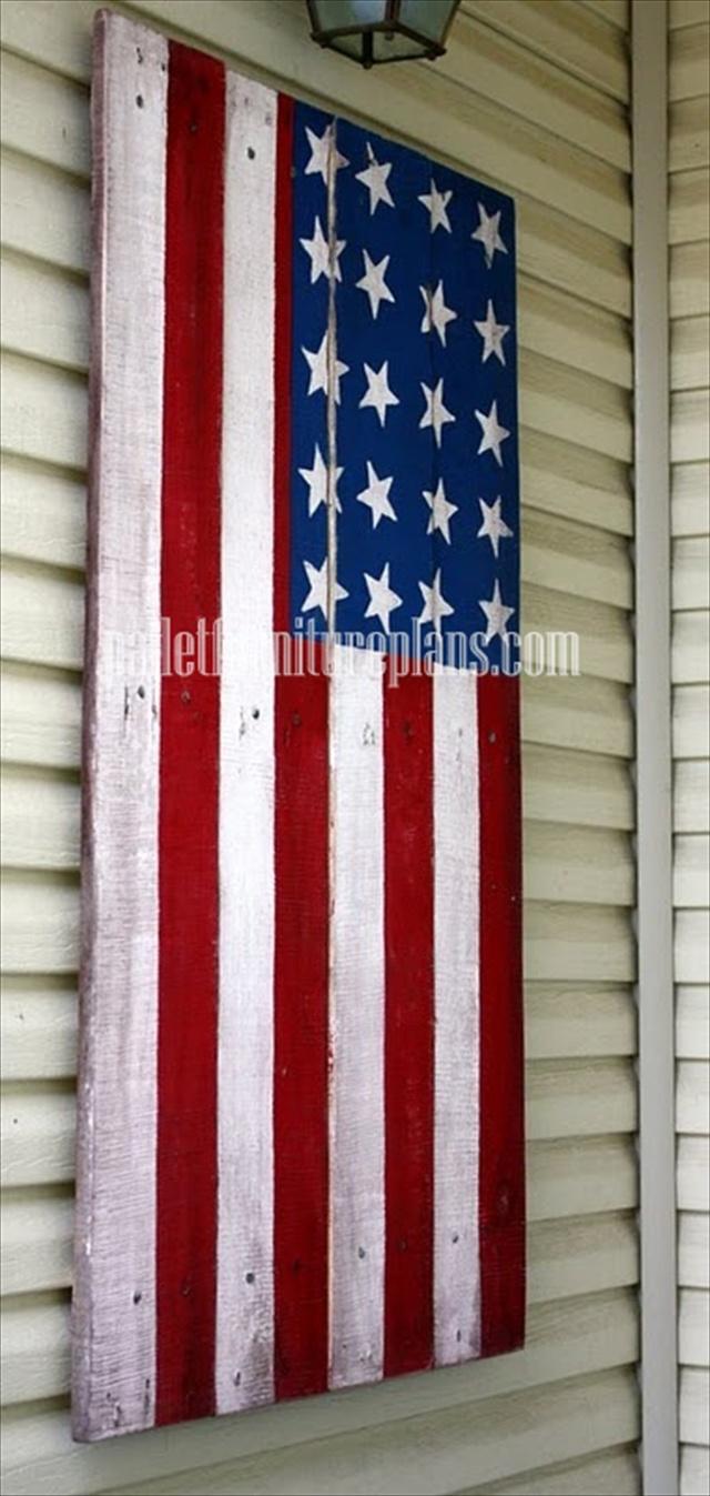 pallet flag art
