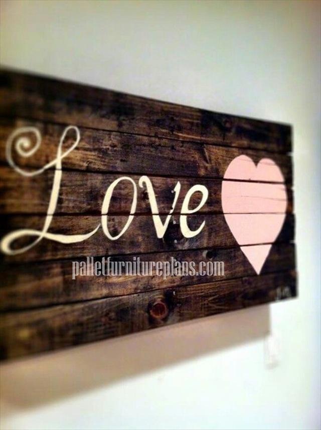 pallet heart art