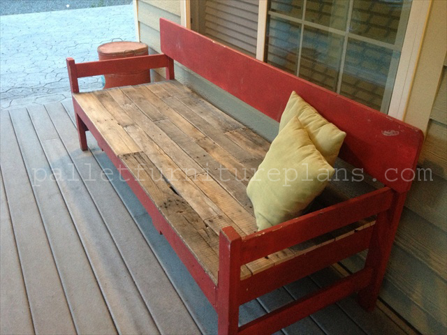 Pallet Porch bench