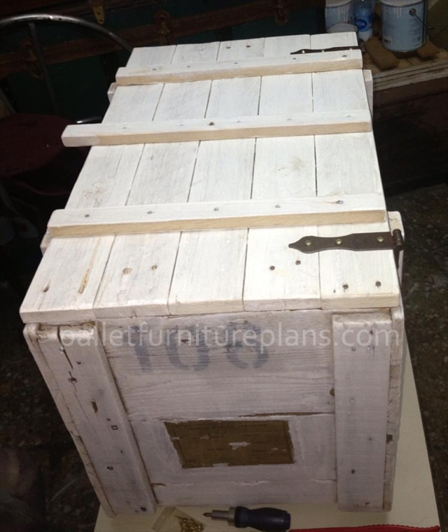 pallet storage box diy
