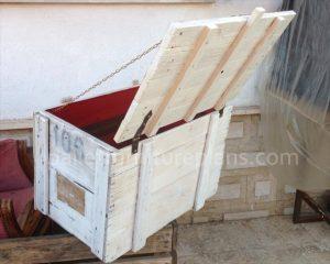 pallet storage box diy