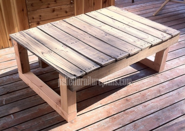 12 DIY Recycled Pallet Tables | Pallet Furniture Plans