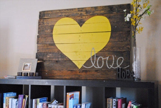 13 DIY Pallet Wood Wall Art Designs Pallet Furniture Plans