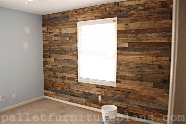 a great idea of pallet wood wall pallet furniture plans. Black Bedroom Furniture Sets. Home Design Ideas