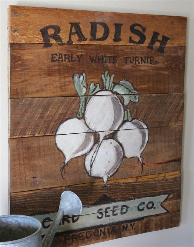 Vintage Seed Packet Sign