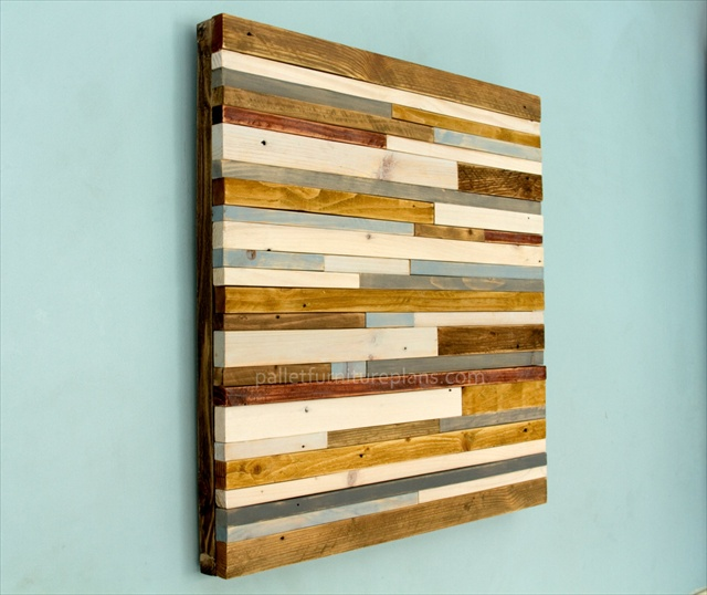 Simple Wood Pallet Wall Art Pallet Furniture Plans