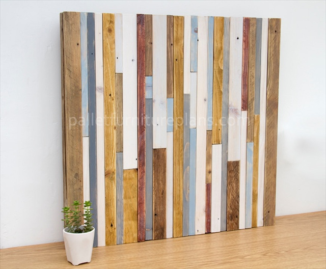 Wooden Pallet Sculpture Wall Art