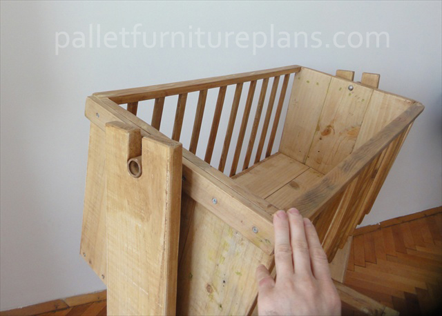 Wooden Pallet Cradle For Kids Pallet Furniture Plans