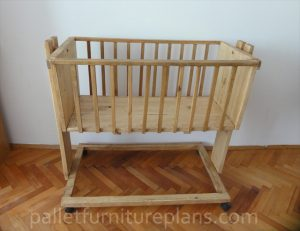 Wooden Pallet Cradle for Kids