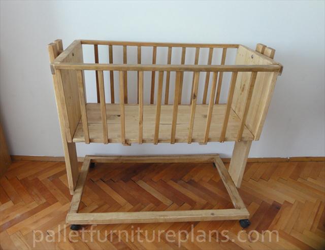 Wooden Pallet Cradle for Kids