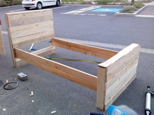 Bed Frame From Pallets | Pallet Furniture Plans