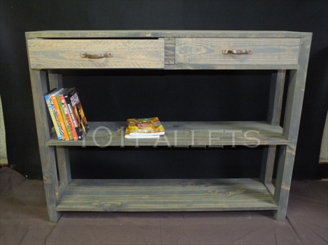 Best way of making pallet console table pallet furniture for Sofa table made from pallets