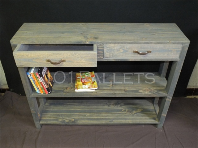 best way of making pallet console table pallet furniture plans. Black Bedroom Furniture Sets. Home Design Ideas