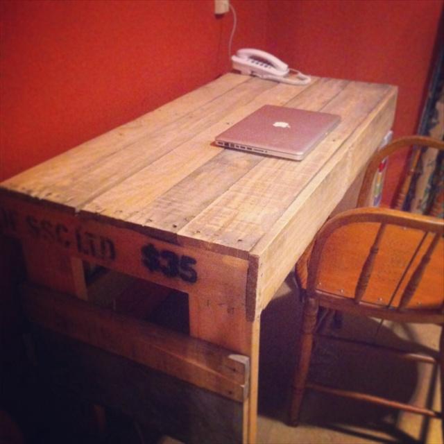 pallet desk diy