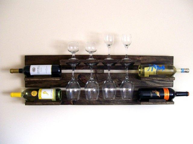 DIY Pallet Wood Wine Rack