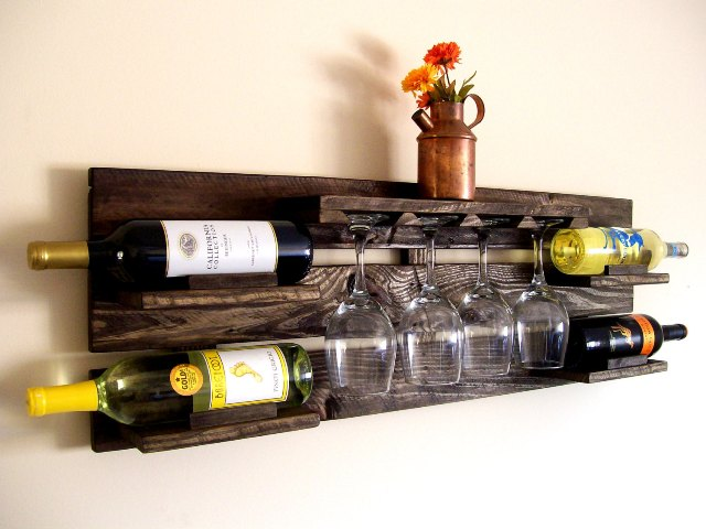 diy pallet wood wine rack pallet furniture plans. Black Bedroom Furniture Sets. Home Design Ideas