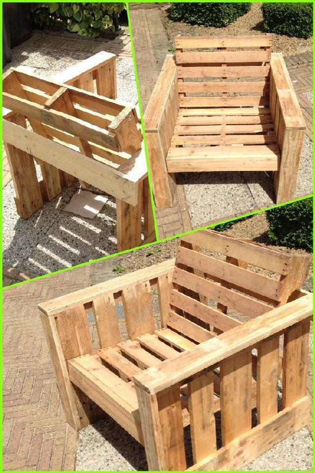 Pallet Furniture - Wood Pallet Chair