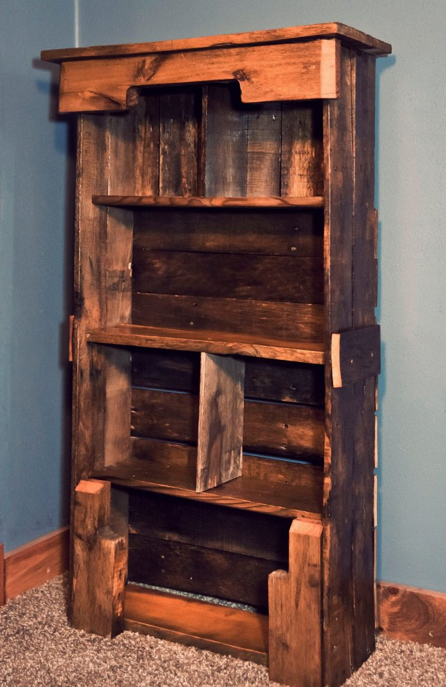 bookcase plans pallets