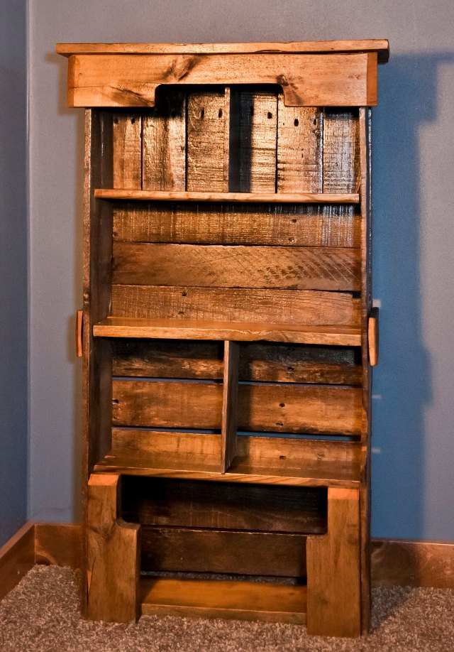 Wooden Pallet Bookshelf Diy Pallet Furniture Plans