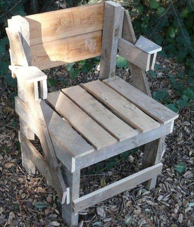 Pallet Chair for garden