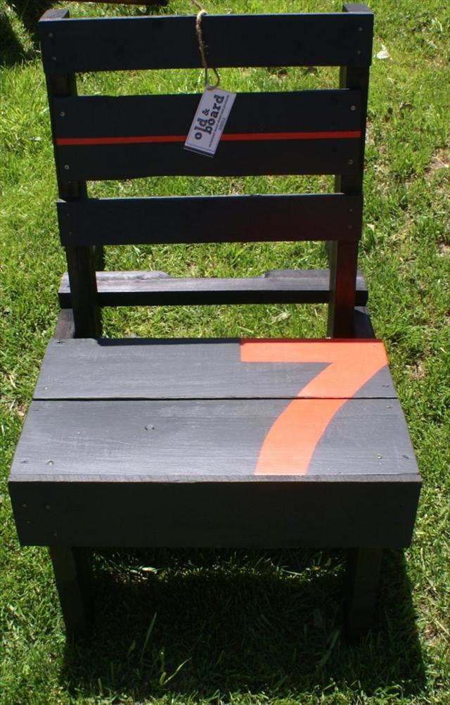 Black Pallet Chair