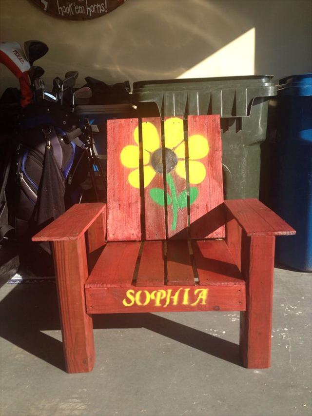 colorful pallet chair
