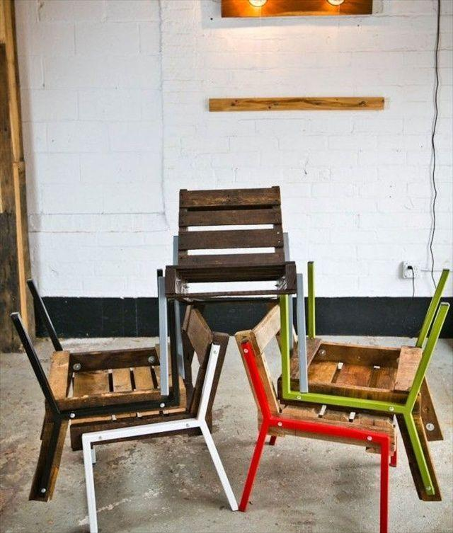 Pallet Kitchen Chairs: 31 DIY Pallet Chair Ideas